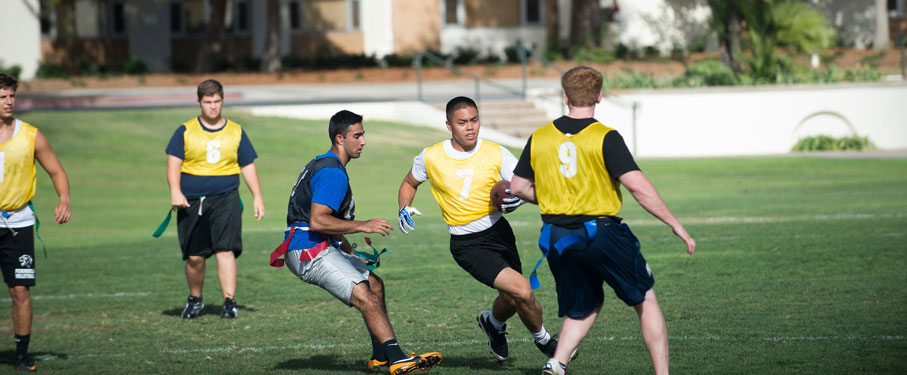 lmu intramural sports team playing on the field