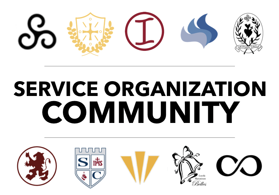 Image includes 10 different logos of each of the Service organizations