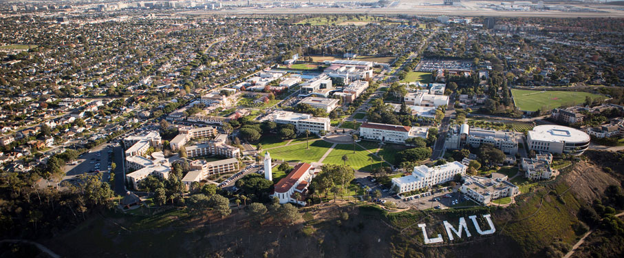 aerial view of LMU bluff