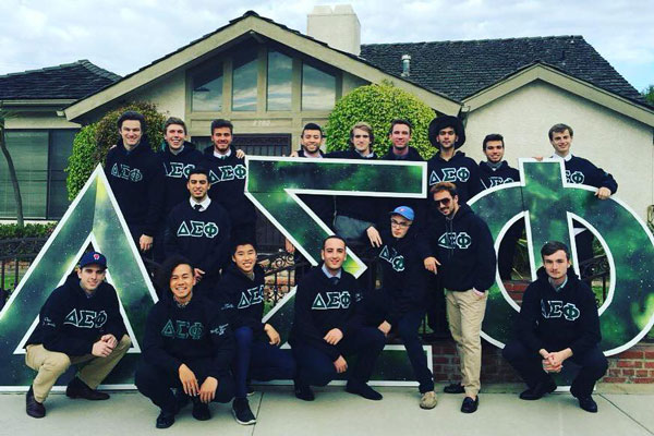 A group of Delta Sigma Phi students