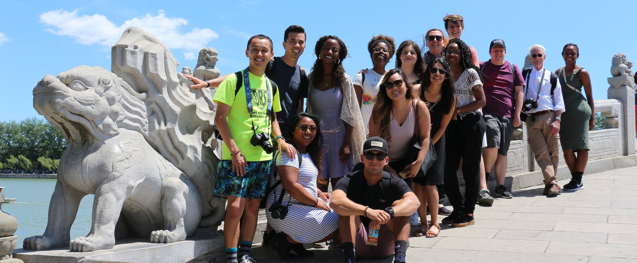 Lingdao 2017 fellows program participants travel to Beijing.